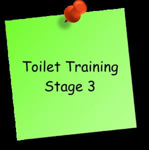 Toilet training stage 3