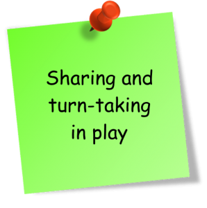 sharing and turn-taking in play