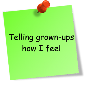 telling grown-ups how i feel