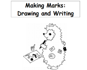 Marking Marks Drawing and writing