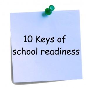 10 keys of school readiness